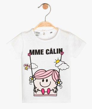 Tee-shirt bébé fille imprimé - Monsieur Madame vue1 - MONSIEUR MADAME - GEMO