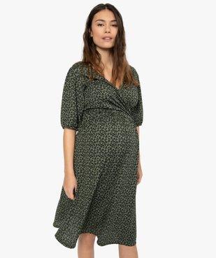 Robe de grossesse imprimée avec décolleté cache-cœur vue1 - Nikesneakers (MATER) - Nikesneakers