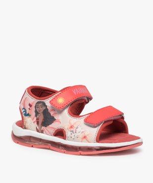 Sandales fille à scratchs et semelle lumineuse - Vaiana vue2 - VAIANA - GEMO