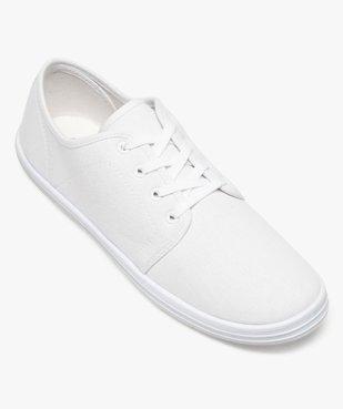 Chaussures basses homme style tennis en toile unies à lacets  vue5 - GEMO (SPORTSWR) - GEMO
