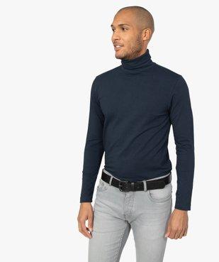 Tee-shirt homme ajusté à col roulé vue1 - GEMO (HOMME) - GEMO
