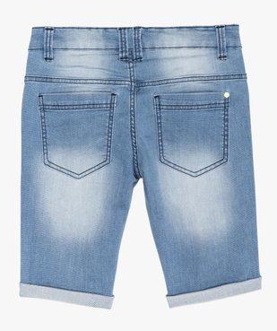 Bermuda garçon en jean extensible avec ceinture cordon vue3 - GEMO (JUNIOR) - GEMO