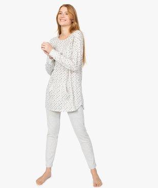 Haut de pyjama femme à manches longues imprimé vue5 - GEMO(HOMWR FEM) - GEMO