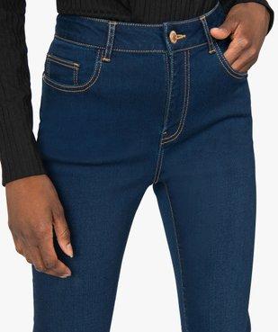Jean femme slim taille haute brut - Longueur L30 vue2 - GEMO(FEMME PAP) - GEMO