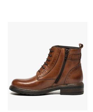 Boots fille zippées dessus cuir uni avec bordures perforées vue3 - GEMO (ENFANT) - GEMO