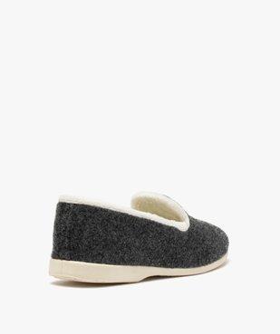 Chaussons femme style slippers en feutrine brodée vue4 - GEMO(HOMWR FEM) - GEMO