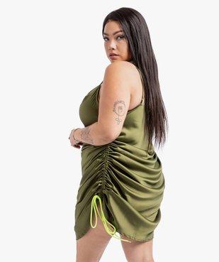 Robe femme à fines bretelles  et col bénitier - Gémo x Lalaa Misaki vue3 - GEMO (G TAILLE) - GEMO