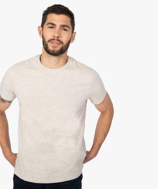Tee-shirt homme à manches courtes uni vue2 - GEMO C4G HOMME - GEMO