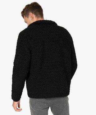 Blouson homme en polaire aspect laine de mouton vue3 - GEMO (HOMME) - GEMO