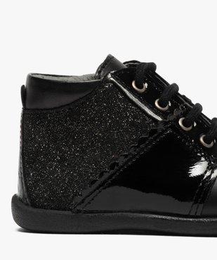 Chaussures premiers pas bébé fille en cuir détails brillants vue6 - Nikesneakers(BEBE DEBT) - Nikesneakers