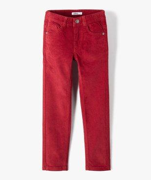 Pantalon garçon 5 poches en velours côtelé vue1 - GEMO (ENFANT) - GEMO