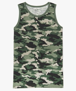 Débardeur garçon en coton motif camouflage vue1 - Nikesneakers (JUNIOR) - Nikesneakers