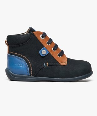 Chaussures bébé garçon semi-montantes dessus cuir - Absorba vue1 - ABSORBA - GEMO
