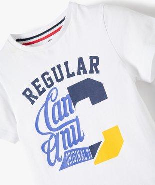 Tee-shirt garçon imprimé à manches courtes – Camps United vue3 - CAMPS UNITED - GEMO