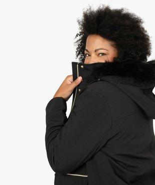 Manteau femme à capuche fantaisie et touches métalliques  vue1 - GEMO (G TAILLE) - GEMO