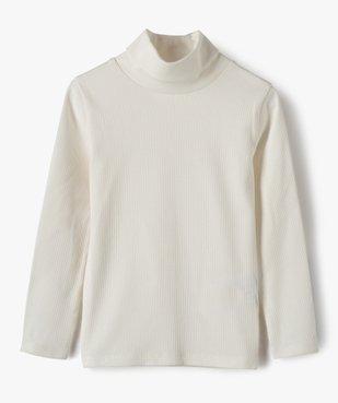 Tee-shirt fille à manches longues et col roulé vue1 - GEMO C4G FILLE - GEMO