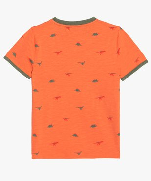 Tee-shirt garçon avec motifs dinosaures et finitions contrastantes vue3 - GEMO (ENFANT) - GEMO