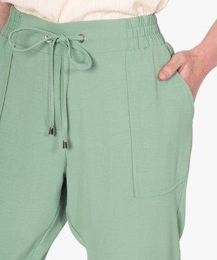 Pantalon femme fluide coupe ample vue2 - GEMO(FEMME PAP) - GEMO