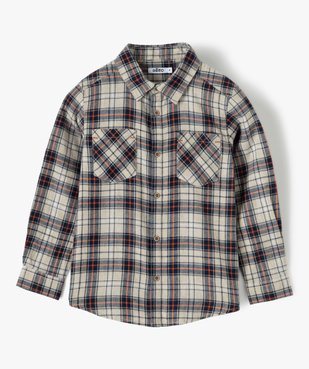 Chemise garçon à carreaux 100% coton vue1 - GEMO (ENFANT) - GEMO