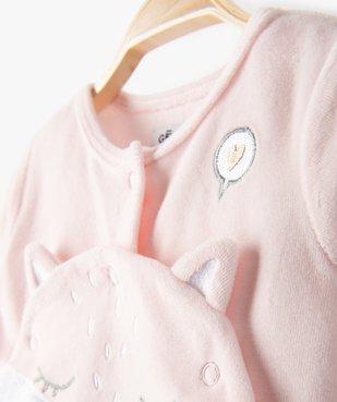 Pyjama bébé fille en velours à motif renard vue2 - GEMO C4G BEBE - GEMO