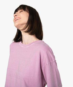 Tee-shirt femme à manches courtes coupe ample vue2 - GEMO(FEMME PAP) - GEMO