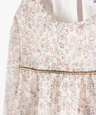 Chemise fille à motifs fleuris et rayures brillantes vue3 - GEMO (ENFANT) - GEMO
