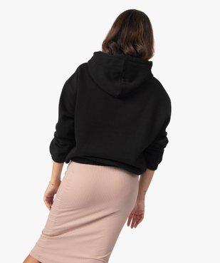Sweat femme à capuche avec finitions élastiquées vue3 - GEMO(FEMME PAP) - GEMO
