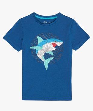 Tee-shirt garçon avec motif en sequins réversibles vue1 - GEMO (ENFANT) - GEMO