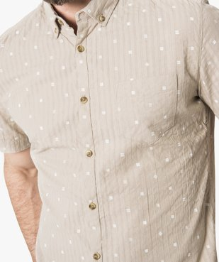 Chemise manches courtes à motifs vue2 - GEMO (HOMME) - GEMO