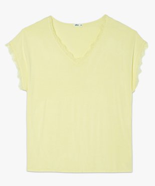 Tee-shirt femme sans manches avec finitions dentelle vue4 - GEMO (G TAILLE) - GEMO