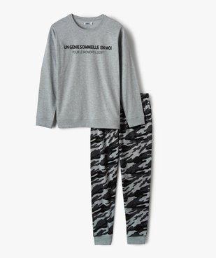 Pyjama garçon en jersey de coton motif camouflage vue1 - GEMO (JUNIOR) - GEMO