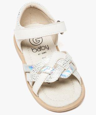 Sandales bébé fille à scratch avec brides entrecroisées vue5 - GEMO(BEBE DEBT) - GEMO