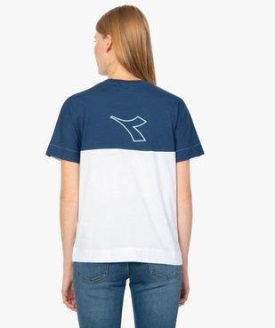 Tee-shirt femme à manches courtes en coton bio - Diadora vue3 - DIADORA - GEMO
