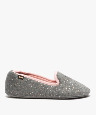 Chaussons femme slippers en velours pailleté - Dim vue1 - DIM - GEMO