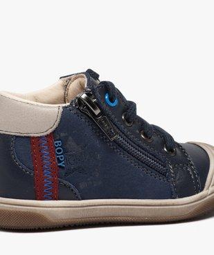 Chaussures premiers pas bébé garçon à lacets et zip - Bopy vue6 - BOPY - GEMO