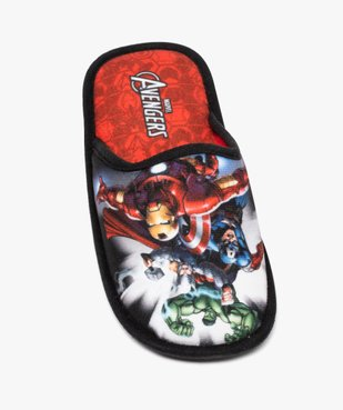 Chaussons garçon mules en velours ras - Avengers vue5 - AVENGERS - GEMO