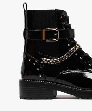 Boots femme vernis à détails métallisés style rock vue6 - GEMO (CASUAL) - GEMO