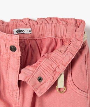 Pantalon fille ample avec taille haute et ceinture tressée vue3 - GEMO (ENFANT) - GEMO