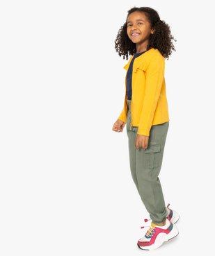 Pantalon fille multipoches resserré dans le bas vue5 - GEMO (ENFANT) - GEMO