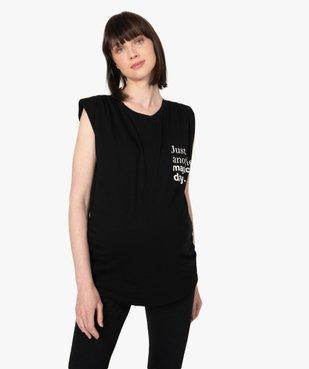 Tee-shirt de grossesse avec col rond et épaulettes vue2 - GEMO (MATER) - GEMO