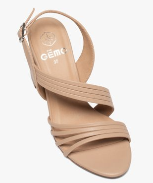 Sandales femme unies à talon et fines brides vue5 - GEMO(URBAIN) - GEMO