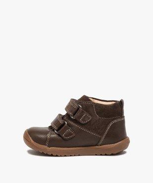 Chaussures premiers pas bébé unies en cuir - Geox vue3 - GEOX - GEMO