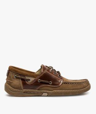 Chaussures bateau homme à lacets dessus cuir vue1 - GEMO (CONFORT) - GEMO