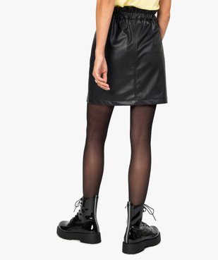 Jupe femme en cuir imitation avec boutons fantaisie vue3 - GEMO(FEMME PAP) - GEMO