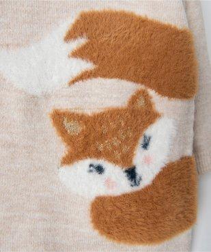 Robe bébé fille en maille avec motif peluche vue2 - GEMO(BEBE DEBT) - GEMO