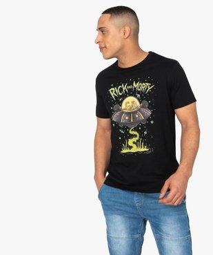 Tee-shirt homme à motif soucoupe volante – Rick and Morty vue1 - RICK ET MORTY - GEMO