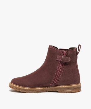 Boots fille zippées dessus cuir retourné style chelsea vue3 - Nikesneakers (ENFANT) - Nikesneakers