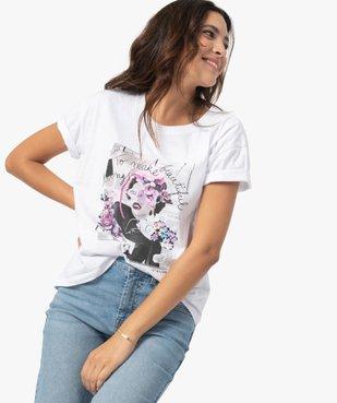 Tee-shirt femme avec motif positif vue2 - GEMO(FEMME PAP) - GEMO