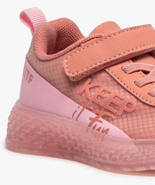 Baskets fille en textile à semelle translucide et fermeture scratch vue6 - GEMO (ENFANT) - GEMO