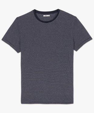 Tee-shirt homme à manches courtes à rayures vue4 - GEMO (HOMME) - GEMO